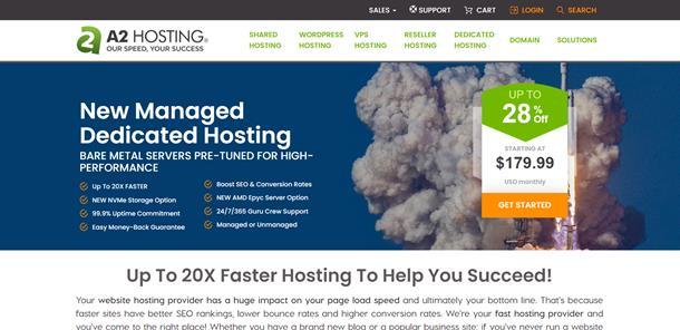 A2 hosting - Dünyanın en hızlı hosting firmaları