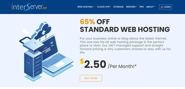 InterServer cPanel hosting